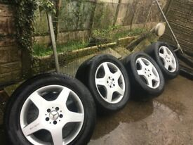 "Set Of 4 Classic Original 18"" AMG Alloy Rims To Fit Ml Or Vito- can deliver"