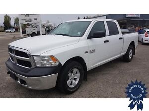 2016 Ram 1500 ST Crew Cab 4x4 - 39,608 KMs, Short Box, Seats 6
