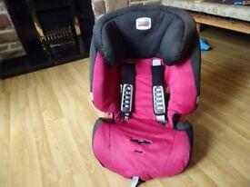 Child Car Seat - Pink & Black