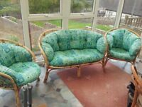 cane conservatory furniture .good condition