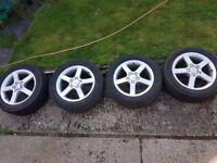"16"" 5 Stud Seat Alloy Wheels + Tires"