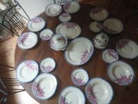 23 Ridgway Hand Painted Bedford Ware Dinner Set/Plates