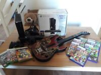 Xbox 360 250GB with Kinect, Guitar & 10 games