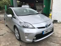 FINANCE £320 PER MONTH 2015 TOYOTA PRIUS HYBRID T SPIRIT CVT AUTO 39600 MILES SOLD WITH PCO LICENCE