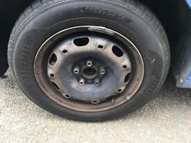 14 inch Vw polo steel wheels