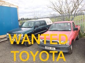 TOYOTA HIACE & TOYOTA HILX ANY CONDITION WANTED!!!!