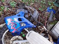 Kawasaki KDX125 for spares , engine is gone, most other parts are available blue plastics and tank