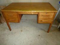 Desk -Solid Wood Pedastal Knee-hole desk