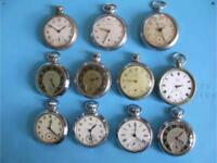 Wanted Smiths Ingersoll and Services type pocket watches and parts running or not