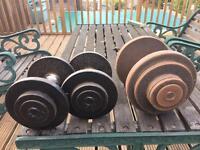 Welded coller dumbells