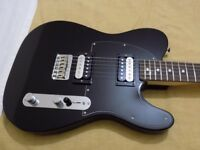 "MIM Fender ""Standard Series"" Black Telecaster with two ""Blacktop Humbuckers""."