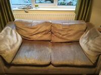 Large Sofa and Chair for sale. FREE