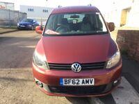 VW CADDY LIFE DSG 1.6TDI DISABILITY VEHICLE 2012/62 REG 70K FSH £5999