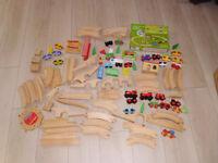 Giant 123 piece wooden play train set plus brand new 31 pce set