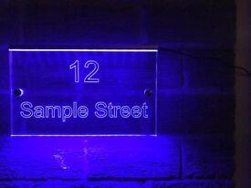 Illuminated house signs