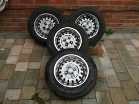 Triumph 1500 Spitfire Steel Wheels with Caps, Chromes and tyres