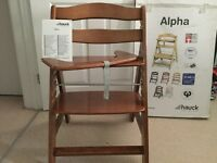 Hauck Alpha High Chair with central leg strap.