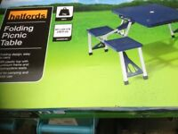 Halfords folding picnic table