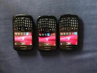 Blackberry 8520 x3 for sale with USB chargers. Unlocked Excellent condition, left over from upgrades