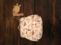Bird Print Clasp Purse