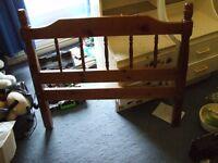 Wooden Single Bed inc Mattress