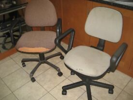 2x OFFICE CHAIRS SWIVEL CHAIR OFFICE SWIVEL CHAIR HEIGHT ADJUSTABLE CHAIR ARMs
