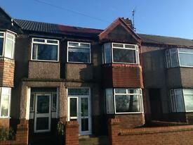 Long Lane, L19- Three bed house to let, loft room, large rear garden