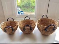 Beautiful set of sea grass storage baskets