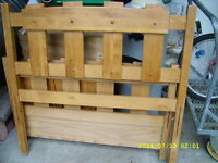 FS: Maple twin size bed frame, twin and queen size boxspring