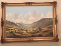 ART COLLECTORS - Large Oil On Canvas (Signed Lower Left By Artist RB Higgins)