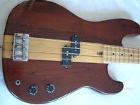 Unbranded Thru' neck electric bass guitar - Japan - '80s _ Fender Precision homage