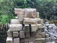 Buff cut sandstone
