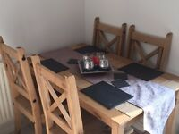 dining table for sale with 4 chairs almost new