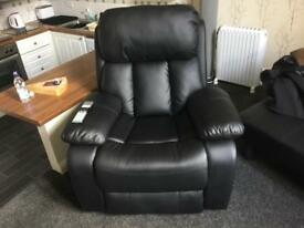 Heated vibrating reclining chair