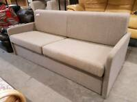 Modern fawn 2 seater sofa bed