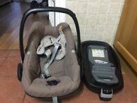 Maxi cosi pebble car seat and base iso fix