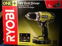Ryobi One+ Cordless 18V 1.3Ah Li-Ion Combi Drill 1 Battery LLCDI18021