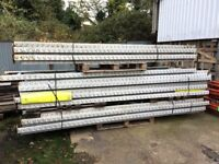 HEAVY DUTY 2 TIER INDUSTRIAL PALLET RACKING - 13 BAYS AVAILABLE.