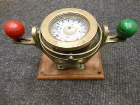 A fine small ship's compass on stand by Coubro & Scrutton of London circa 1920