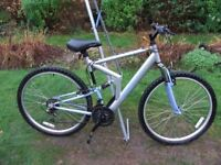 Mens/Boys Mountain Bike 26in Wheel 20in Frame 18 Gears Full Suspension