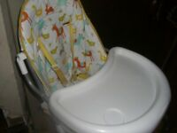 HIGH CHAIR - VGC - FOLDS AWAY FLAT - CLACTON ON SEA - CO15 6AJ