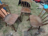 Pine kitchen chairs and children's chairs
