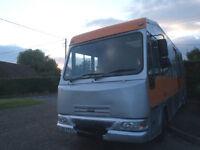 Motorhome, Motor caravan, All year round mobile home, DAF LF45 - 5 birth, rear bedroom
