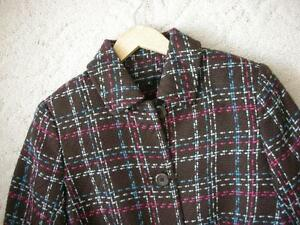 Women's Brown Pink Blue White Plaid Dress Coat Jacket!! Windsor Region Ontario image 5