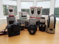 Canon 5D MKII x 2, 70-200 f/2.8 + 24-105 f/4 + 580EX and more (COMPLETE SETUP)