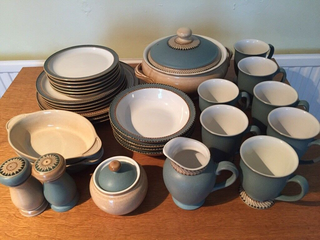 DENBY LUXOR 30 PIECE DINNER SET IN EXCELLENT CONDITION - may sell ...