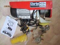 Brand new unused Clarke 250 kg electric hoist