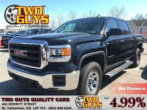 2015 GMC Sierra 1500 4x4 CREW CROME 20 MAGS BACK UP CAMERA