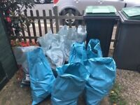 Free bricks and rubble in bags