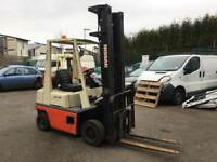 Nissan 1.5 ton gas forklift truck with side shift ***low hours***